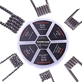 6 in 1 Pack Alien/Alpha Braid/Fused Clapton/Tidal Clapton Coil DIY vorkompilierte Heizung Draht 24/Pack