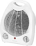 Heizlüfter mit regelbaren Thermostat Ventilator Heizgerät Elektroheizer 2 Heizstufen Tragegriff (leistungsstarke 2000 Watt,Überhitzungsschutz)