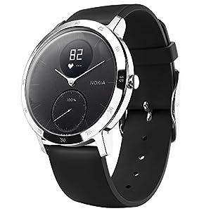 Nokia Steel HR Reloj, Unisex Adulto, Negro, 40mm