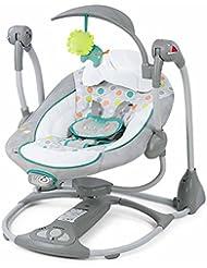 QIAN Sillón reclinable appease eléctrica mecedora bebé cuna balancearse hacia atrás para dormir moisés cama