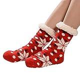 iHENGH Vorweihnachtliche Karnevalsaktion Damen Herbst Winter Bequem Lässig Mode Frauen Weihnachten Frauen Baumwollsocken Drucken Dicker Anti Rutsch Fußbodensocken Teppich Socken