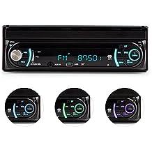 "auna MVD-330 Autoradio con pantalla táctil de 7"" (potencia de 4x25W, bluetooth, USB, MP3, AUX, 1080p, micrófono integrado, mando a distancia)"