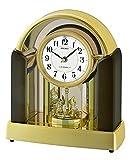 Seiko Melody Mantel - Reloj de Pulsera con Carcasa de Piedra de mármol y Cristales Swarovski, Color Plateado, 17 x 32,5 x 30,3 cm
