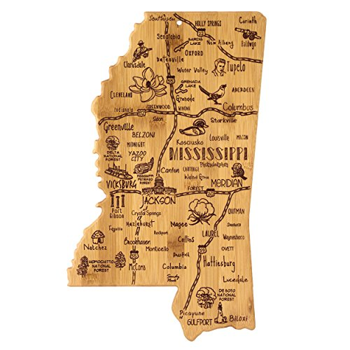 Totally Bamboo Mississippi State Destination Bambus Servieren und Schneidebrett (Totally Bamboo-schneidbrett)