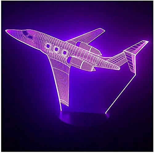 Nachtlicht Jet Flugzeug 3D Led Lampe 7 Farbwechsel 3D Nachtlicht Baby Schlafzimmer Tischlampe Touch Usb Schreibtischlampe Kinder Urlaub Geschenk Wohnkultur