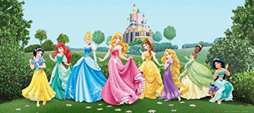 Preisvergleich Produktbild 1art1 77455 Disney Prinzessin - Arielle, Schneewittchen, Aschenputtel Und Prinzessinnen, Feier Im Garten Fototapete Poster-Tapete 202 x 90 cm