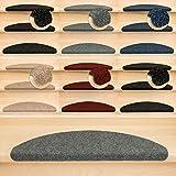 Kettelservice-Metzker Stufenmatten Ramon MW Halbrund | in verschiedenen Set Varianten | 65x21x3,5cm | Grau 22 Stück