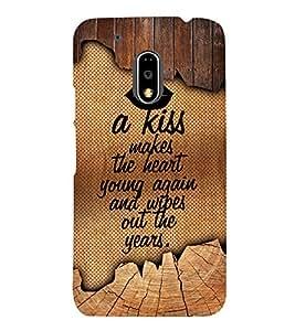 A Kiss Makes The Heart Young 3D Hard Polycarbonate Designer Back Case Cover for Motorola Moto G4 Plus :: Moto G4+ :: Moto G4