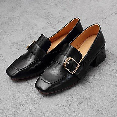 pwne Donna Comfort Tacchi Pu Fall Winter Casual Chunky Heel Nere 1A-1 3/4In Black Noi6.5-7 / Eu37 / Uk4 5-5 / Cn37 US5 / EU35 / UK3 / CN34