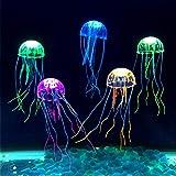 Netspower Aquarium Dekoration Künstliche Quallen, 6 Stück Leuchtende Quallen als Dekoration Glühende Deko aus Silikon für Aquarium Fisch Tank Ornament