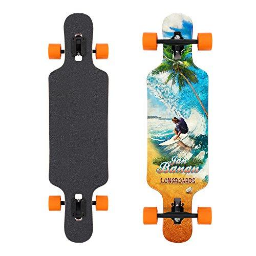 "Jan Banan® Komplett Longboard Cruiser Drop Through Flex 2""Perfect Wave 8.5 x 42"