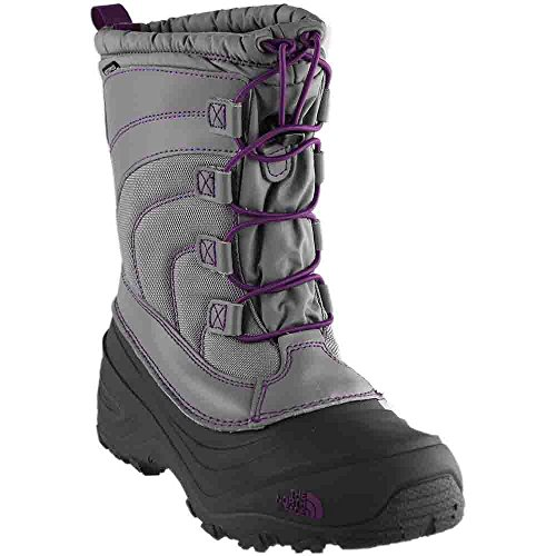 North The 3m Face (The North Face Alpenglow IV Boot, Frost Grey/Wood Violet, 3 M US Boys)