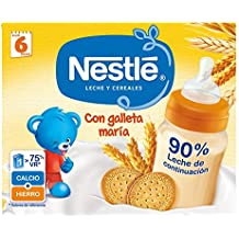 Nestlé Leche y Cereales galleta - Alimento Para bebés - Paquete de 6x2 unidades ...