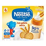 Nestlé Leche y Cereales galleta - Alimento Para bebés - Paquete de 6x2 unidades de 250ml