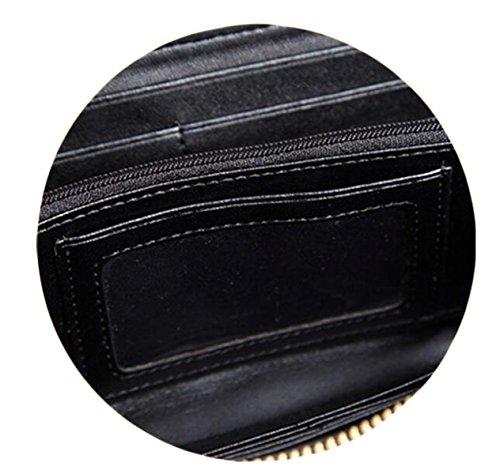 Borse Portafoglio Grande Con Zip Pacchetto Borsa Frizione Portafoglio Telefono Preparato Red