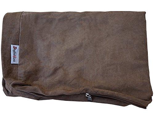 dogbed4less Microsuede externen Haustierbett für Kleine bis Extra Große Hunde, Braun Farbe 7Größen-Ersatzbezug Nur, 35