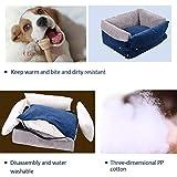 Biback Hundekorb Waschbar Hundebett Kissen für Hunde Katzen 56cmx37cmx19cm Hundebett Hundeschlafplatz Haustierbetten Hundesofa für Kleine Hunde
