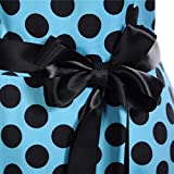 Manadlian Neckholder Rockabilly 1950er Polka Dots Punkte Vintage Retro Cocktailkleid Petticoat Faltenrock Frauen Lose Party Knie Kleid