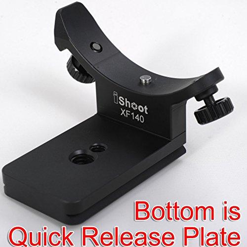 iShoot Metall Objektiv Halsband Ersatz Boden Fuß Ständer Adapter für Fuji XF 100-400mm f4.5-5.6R LM Ois WR Teleobjektiv Stativanschluss Ring-Bottom ist Kamera Schnellwechselplatte Funktion Arca-swiss-mount