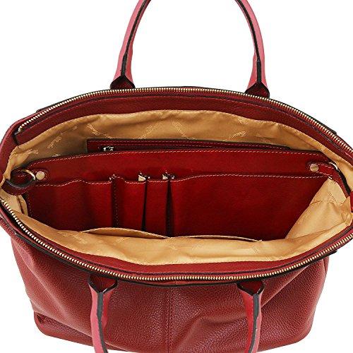 Tuscany Leather Irene - Sac à main en cuir souple avec bandoulière - TL141514 (Beige) Noir