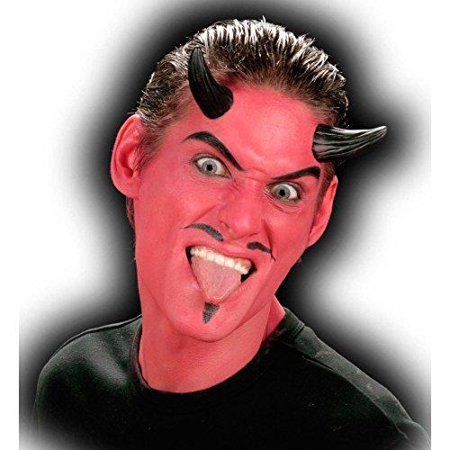 felshörner Teufels Hörner zum Ankleben Teufelshorn schwarz Halloween Kostüm Zubehör (Halloween Schwarze Hörner)