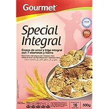 Gourmet - Special Integral - Copos de arroz y trigo integral con 7 vitaminas y hierro - 500 g - [pack de 3]