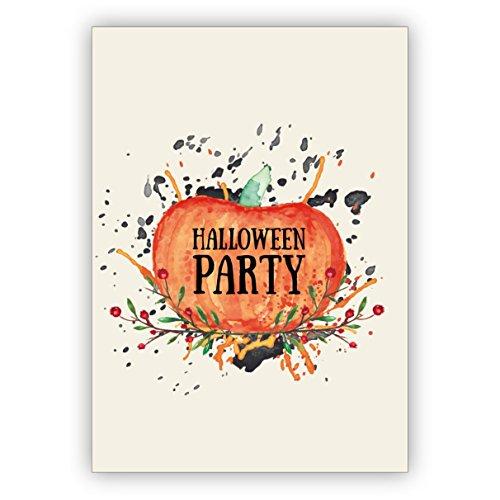 dungskarte zu Halloween mit Kürbis: Halloween Party (Halloween Dinner Party Ideen)