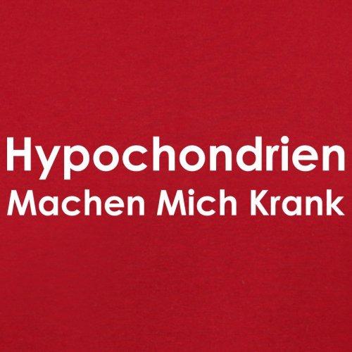 Hypochondrien machen mich krank - Herren T-Shirt - 13 Farben Rot