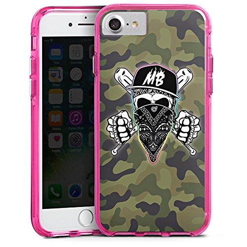 Apple iPhone X Silikon Hülle Case Schutzhülle Montanablack Fanartikel Merchandise MontanaBlack Base Camo Bumper Case transparent pink