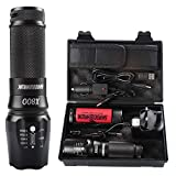 Best Tactical Flashlights - shadowhawk x800 waterproof tactical flashlight rechargeable 18650 military Review