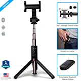 #5: Zaap Aluminium Bluetooth Monopod Selfie Stick With In-Built Tripod For All Smartphones (Black)