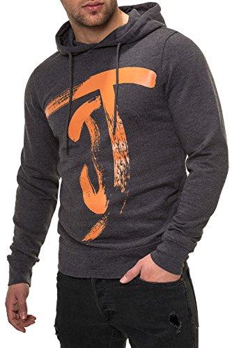 JACK & JONES Herren Hoodie Kapuzenpullover Sweatshirt (3XL, Dark Grey Melange) thumbnail