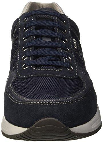Geox U Dennie B, Baskets Basses Homme Bleu (Navyc4002)