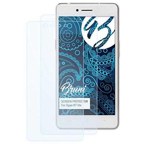 Bruni Schutzfolie kompatibel mit Oppo R7 lite Folie, glasklare Bildschirmschutzfolie (2X)
