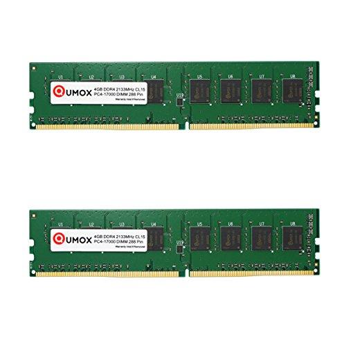 QUMOX 8GB (2x 4 GB) DDR4 2133 2133MHz PC4-17000 PC-17000 (288 PIN) di memoria DIMM