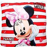 Unbekannt Kissen / Schmusekissen / Sitzkissen -  Disney - Minnie Mouse  - inkl. Name - Kuschelkissen - Mikrofaser - 40 cm * 40 cm - groß - beidseitig Bedruckt - sehr ..