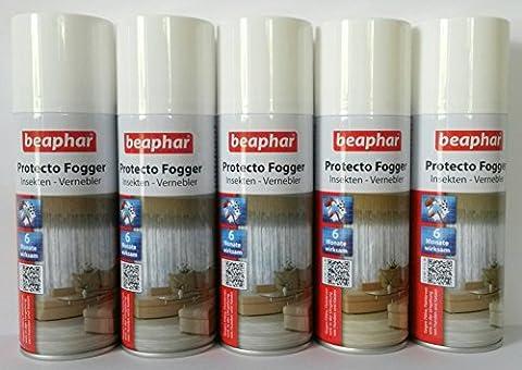 5er Set Beaphar Protecto Fogger Insektenvernebler Flohbombe je 200ml