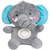 Twiddle Elephant With Cute Big Ear Soft Toy For Kids Grey Colour 25 Cm