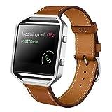 Fitbit Blaze Bracelet, Fulltime® cuir Luxe Sport Band remplacement pour Fitbit Blaze montre Smart Watch (Brown )