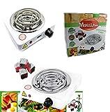 Maxell Power CE Cocina ELECTRICA Individual para Carbon DE CACHIMBA Shisha 1 Fuego 1000W Calidad