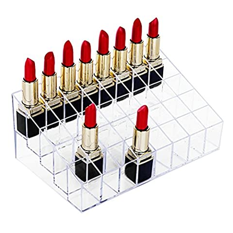 40 Space Acrylic Lipstick Holder Clear Make up Brush Storage