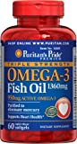 Puritan's Pride Triple Strength Omega-3 Fish Oil 1360 mg (950 mg Active Omega-3) 60 Softgels 16105