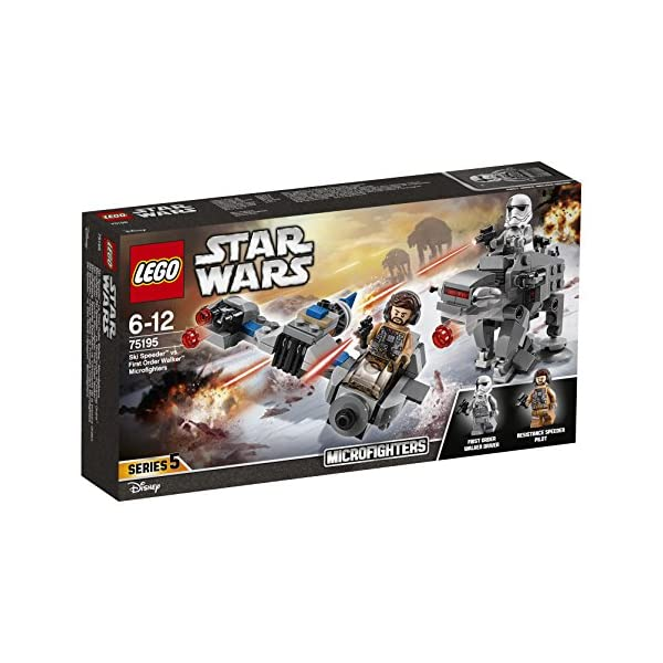 LEGO- Star Wars TMSki Speeder conMicrofighter First Order Walker, Multicolore, 75195 5 spesavip
