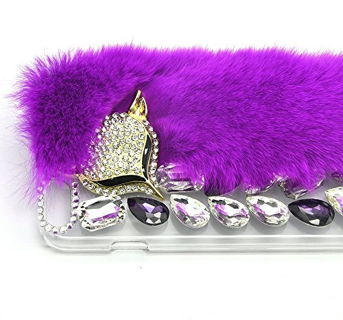 iPhone 6s Plus Cover, iPhone 6 Plus / iPhone 6s Plus Hülle, Sunroyal Luxus Rhinestone Soft Winter warme flauschige Villi Pelz Plüsch Wolle Bling Skin Schutzhülle Case für iPhone 6 Plus / iPhone 6s Plu Farbe 03