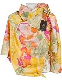 Gai Mattiolo Foulard fantasia estivo donna per cerimonia coprispalle  elegante fular pashmina sciarpa da signora ragazza d080d9864bcd