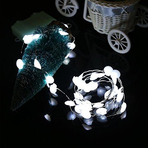 Gelb Dekorative Lichterkette (ZISTE Shimmer Lichterkette, dekorative Leuchtung für Weihnachten, Urlaub, Hochzeit, Partys, 40 Leds Lichte, 10ft, Muschel-Form Weißes Licht)