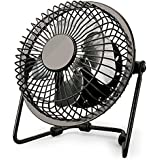 USB Fan, Tintec Metal Desk USB Fan 4 Inch Mini Silent Fan Portable Cooling Fan Perfect for Notebook Laptop PC Desk Table with 360 Degree Rotation