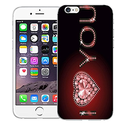 "Nouveau iPhone 6 4.7"" inch clip on Dur Coque couverture case cover Pare-chocs - I love you rouge Motif avec Stylet I love you red"