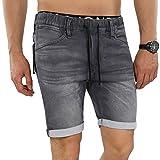 JACK & JONES Shorts jjDASH Jeansshort kurze Hose Elasthan (M, Grau (Grey Denim))