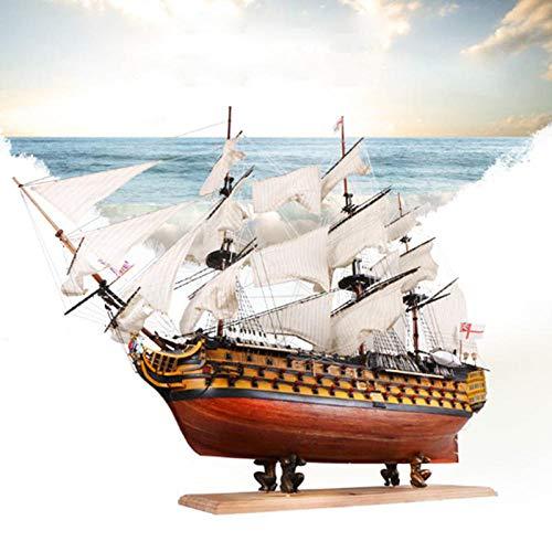 POTOLL Modellbausatz Schiff Wasserfahrzeug-Modellbausätze Model Schiff DIY Handgemachte Montage Schiff 21